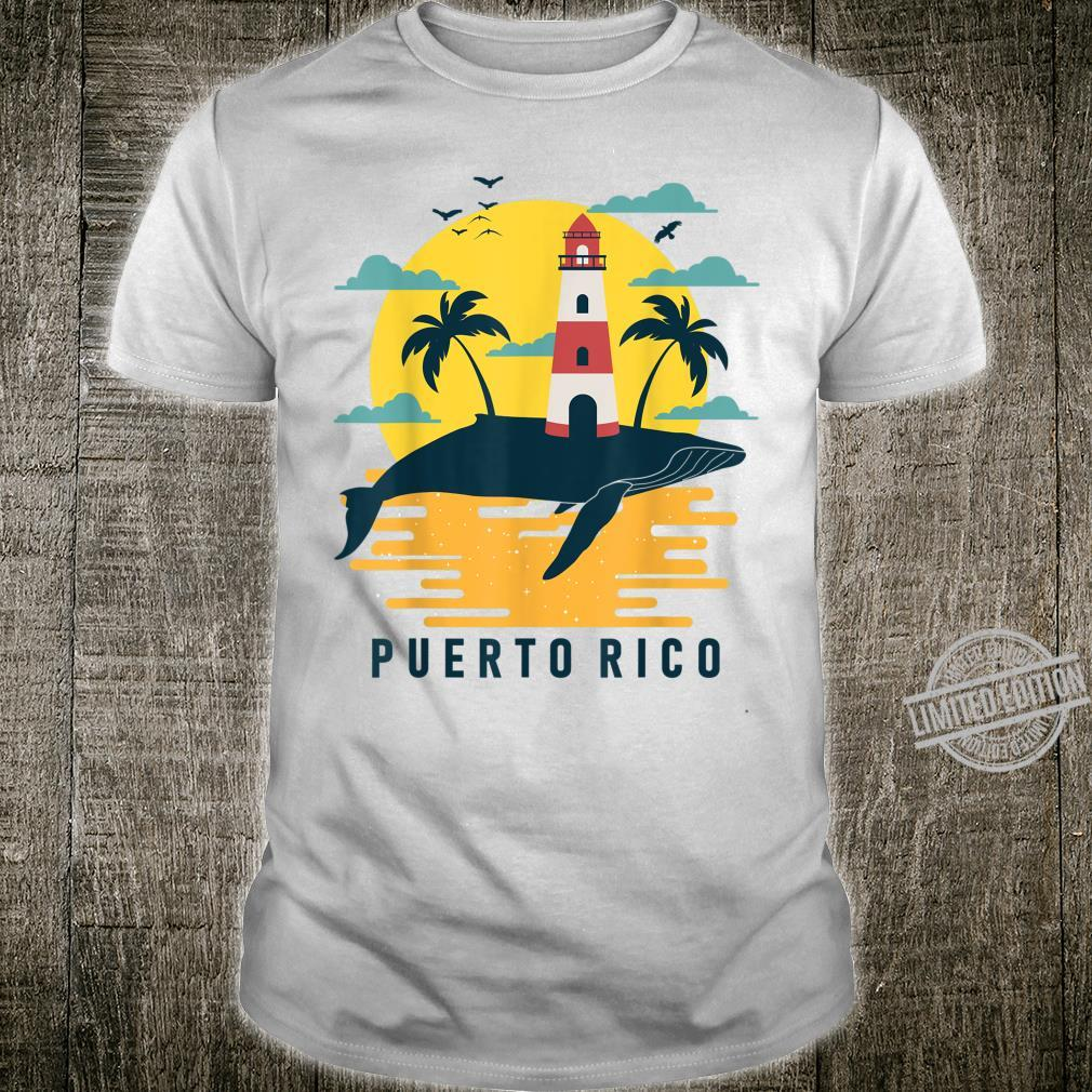 Puerto Rico Tropical Sunset Lighthouse Tourist Vacation Shirt