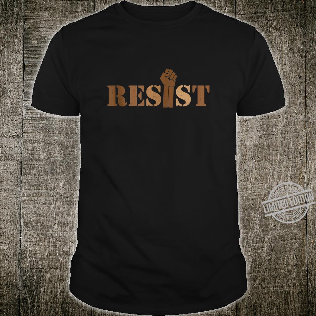 Resist Fist Black Lives Matter BLM African American Shirt