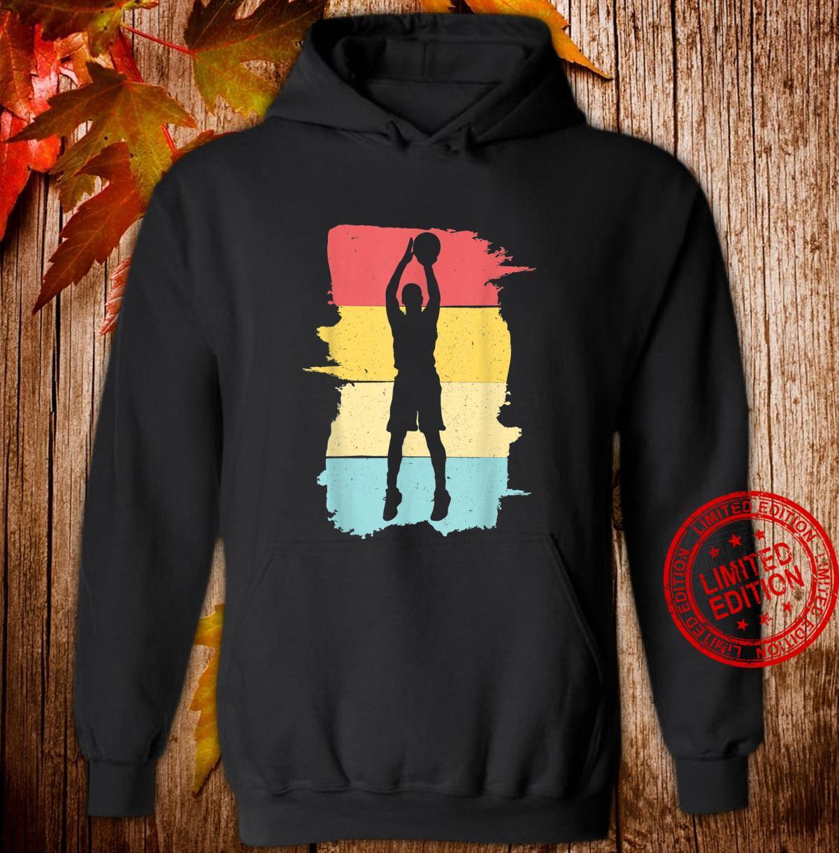 Retro Basketball Basketballspieler Geschenk für Junge Jungen Shirt hoodie