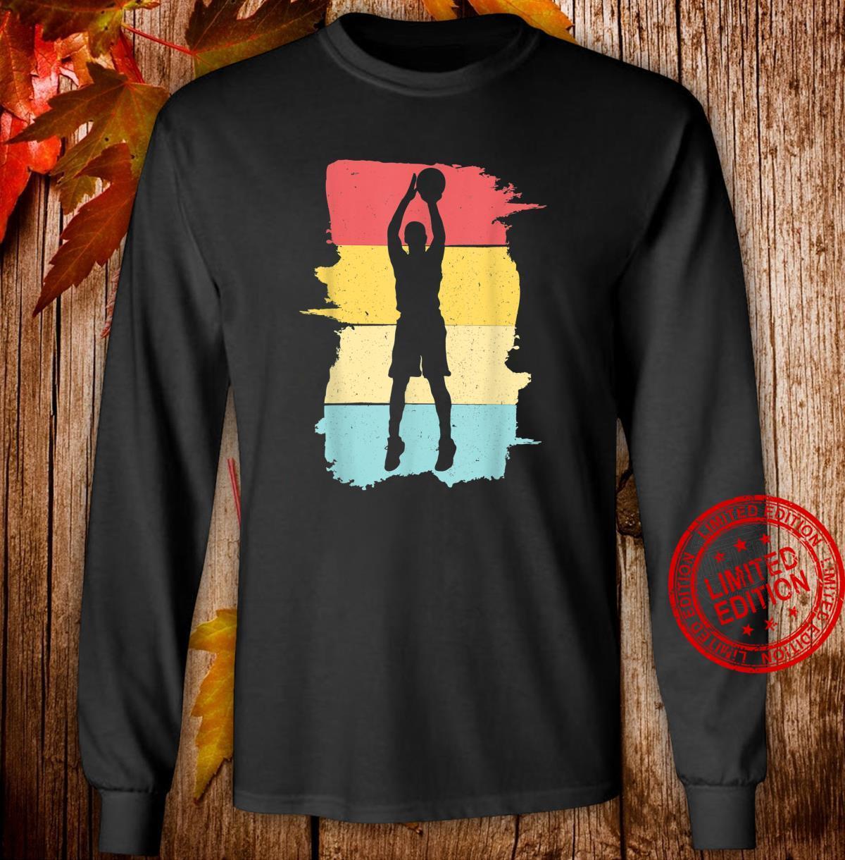 Retro Basketball Basketballspieler Geschenk für Junge Jungen Shirt long sleeved