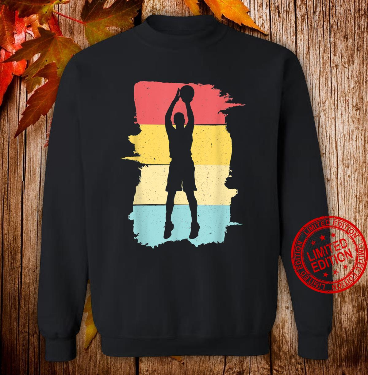 Retro Basketball Basketballspieler Geschenk für Junge Jungen Shirt sweater