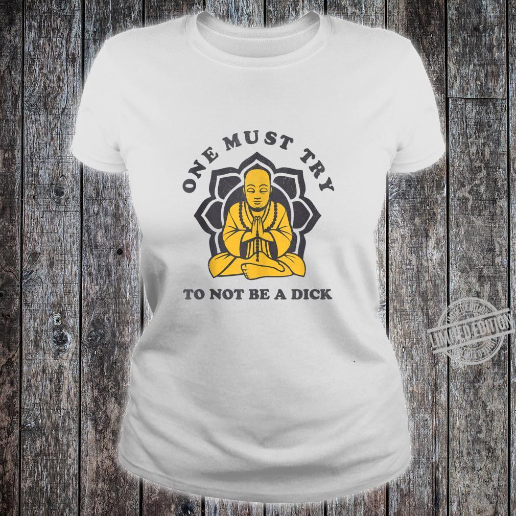 Retro Buddha Meditation Sayings Yoga Shirt