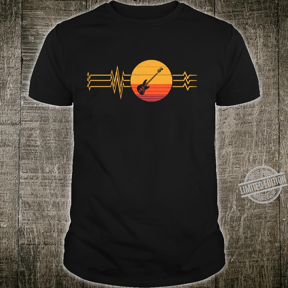 Retro Heartbeat Electric Guitar Lifeline Vintage Guitarist Shirt