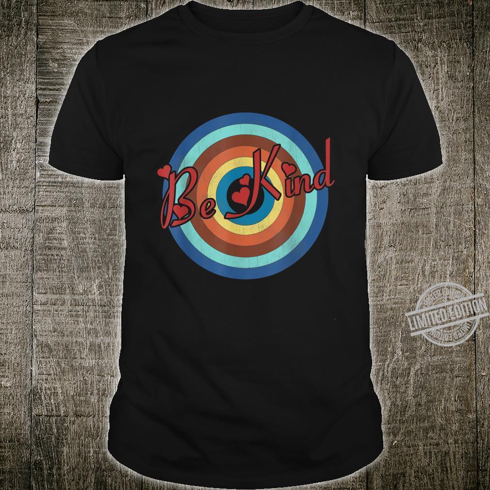 Retro Vintage Be Kind Choose Kindness Family Inspirational Shirt