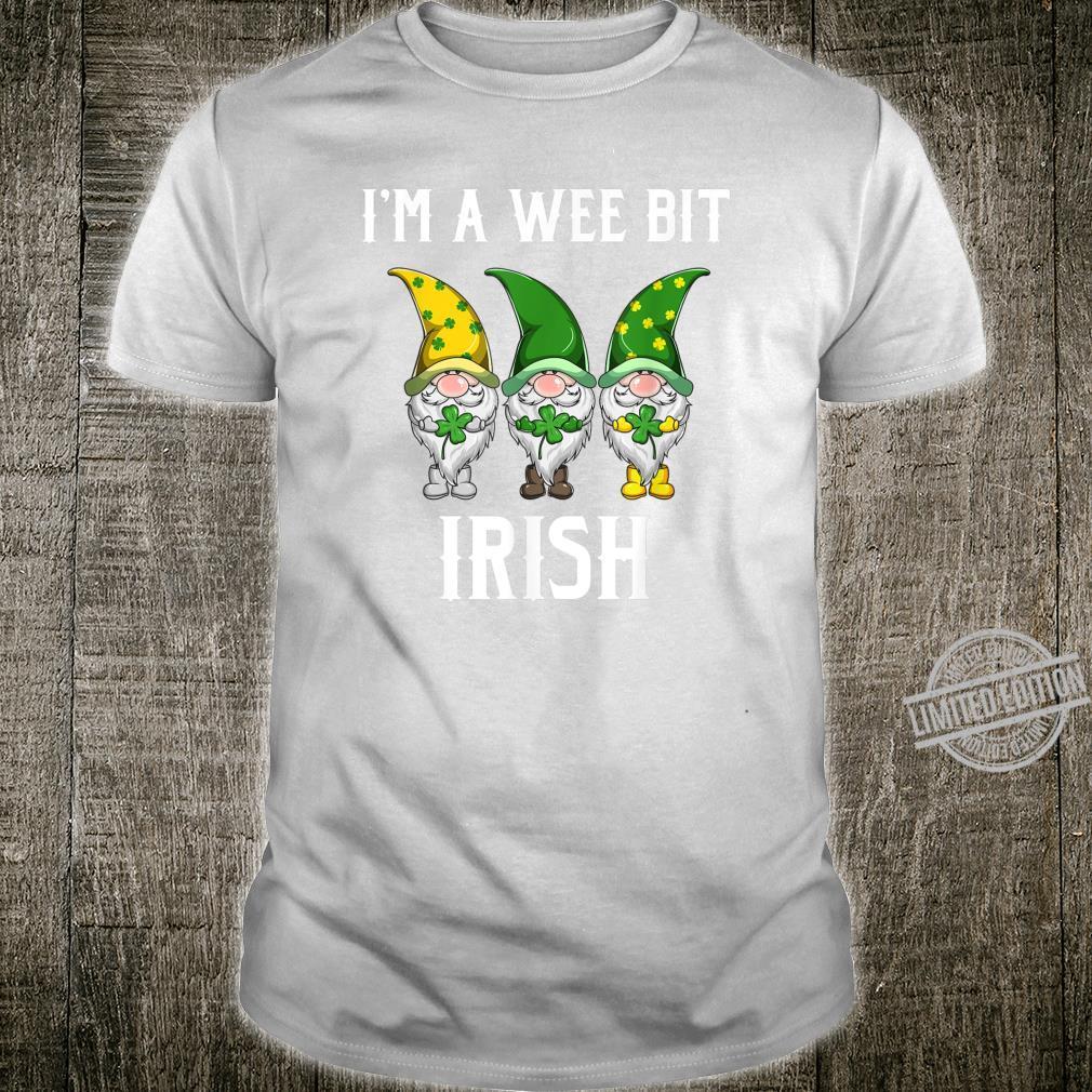 St Patricks Day I'm A Wee Bit Irish Gnomes Shamrock Shirt