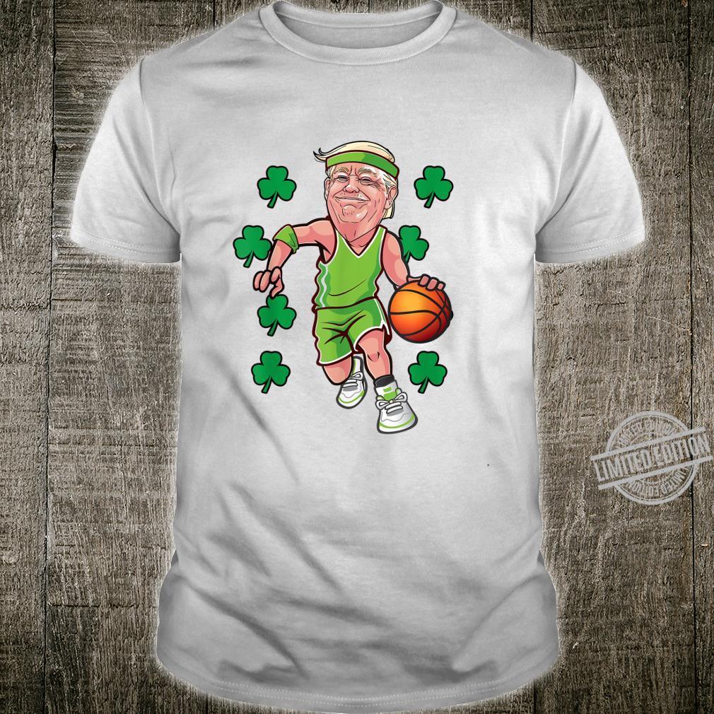 St Patrick's day Trump basketball American Shamrock boy Shirt