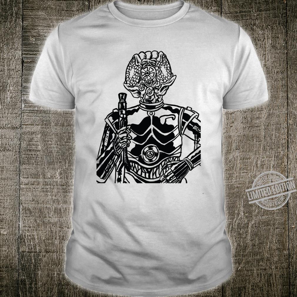 Star Wars 4LOM Bounty Hunter Droid Comic Book Sketch Shirt