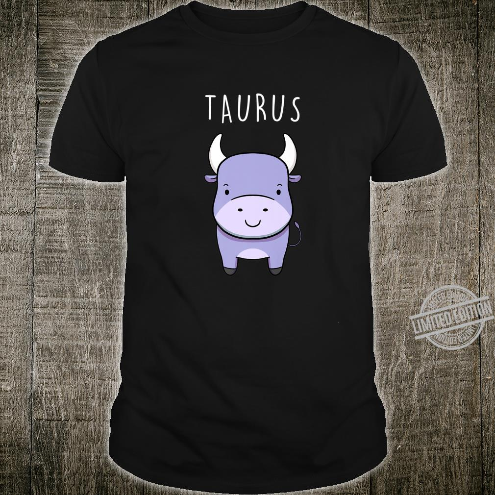 Taurus Bull Symbol Cute Drawing for Zodiac Star Sign Shirt