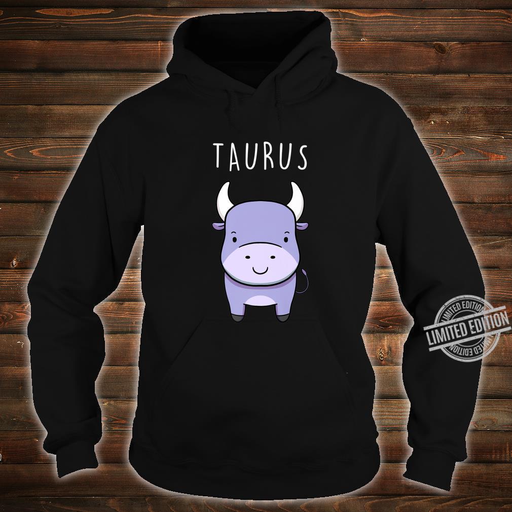 Taurus Bull Symbol Cute Drawing for Zodiac Star Sign Shirt hoodie