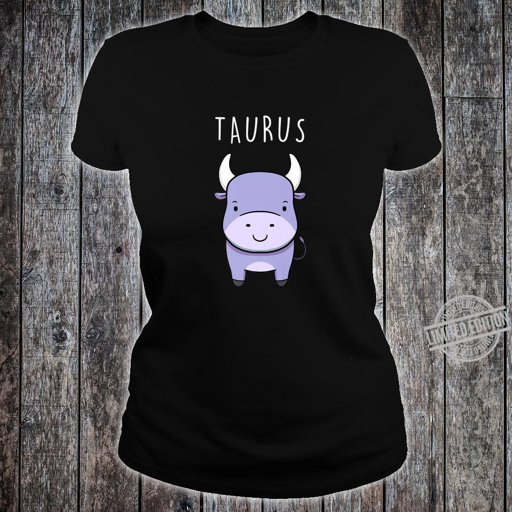 Taurus Bull Symbol Cute Drawing for Zodiac Star Sign Shirt ladies tee