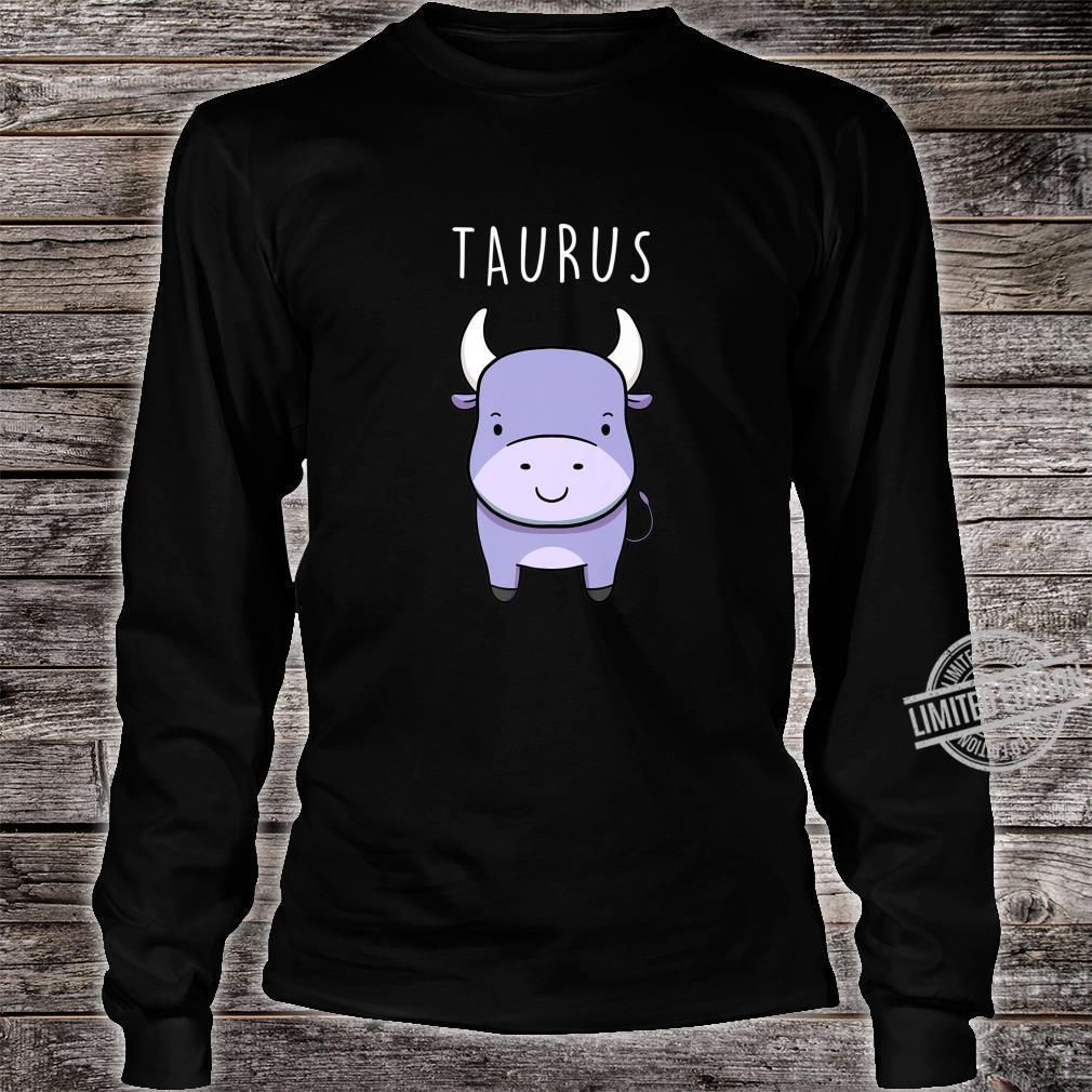 Taurus Bull Symbol Cute Drawing for Zodiac Star Sign Shirt long sleeved