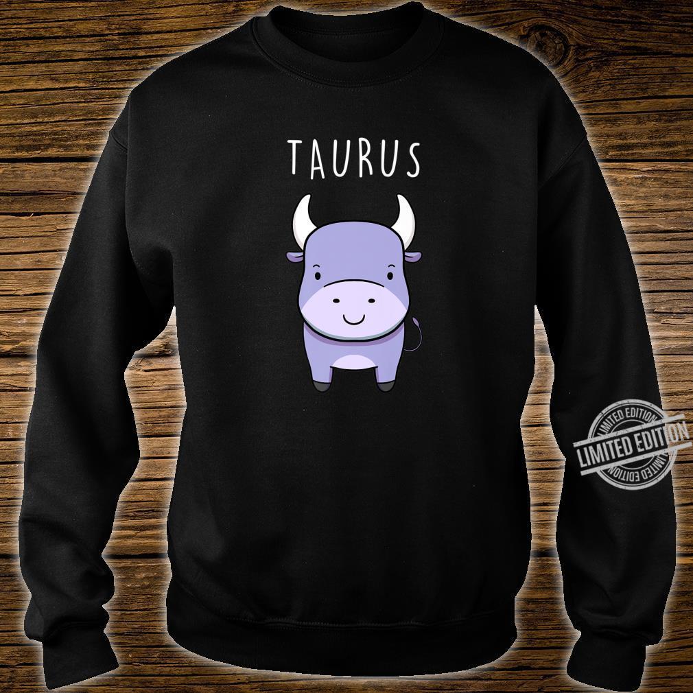 Taurus Bull Symbol Cute Drawing for Zodiac Star Sign Shirt sweater