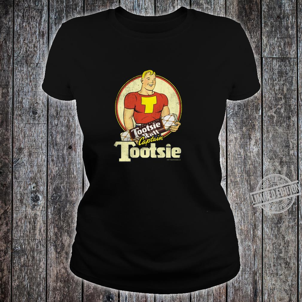 Tootsie Roll Captain Tootsie Shirt ladies tee
