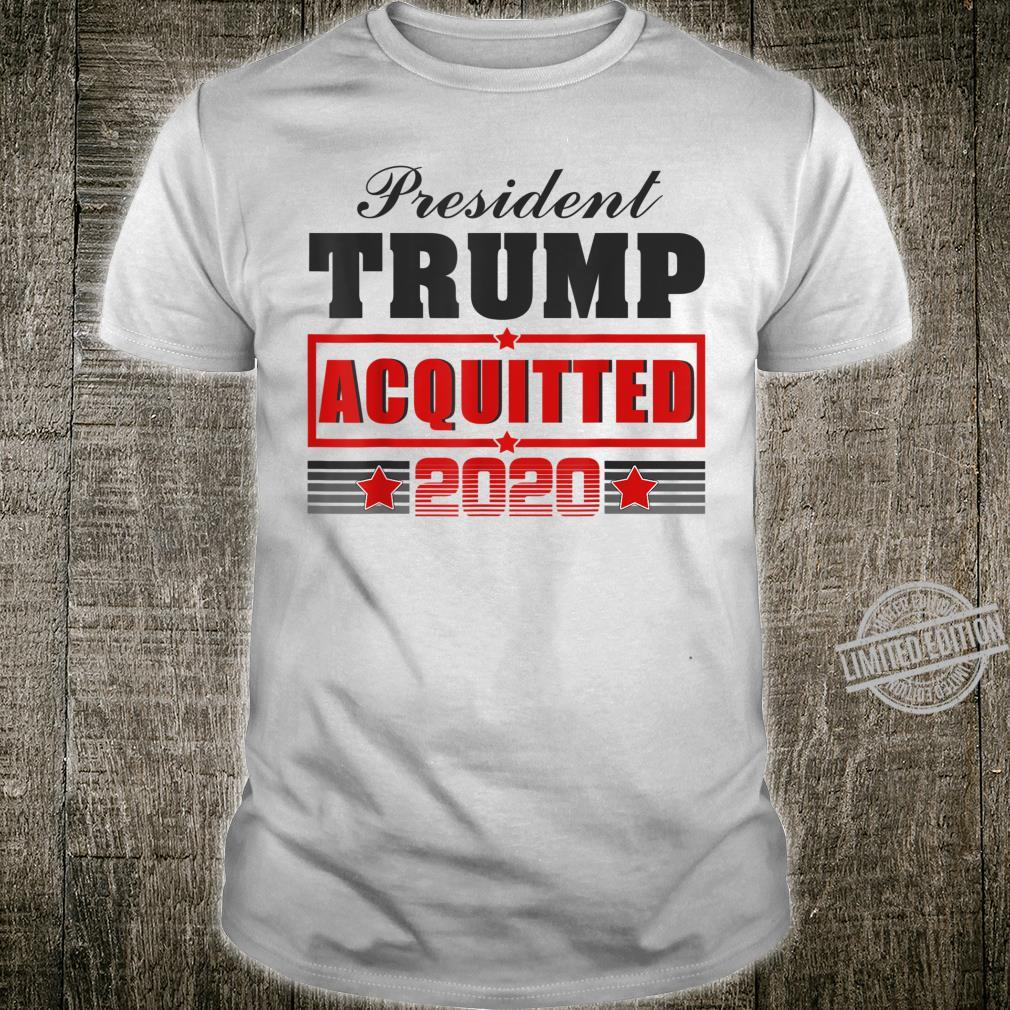 Trump Acquitted 2020 Donald Support Vote President Shirt
