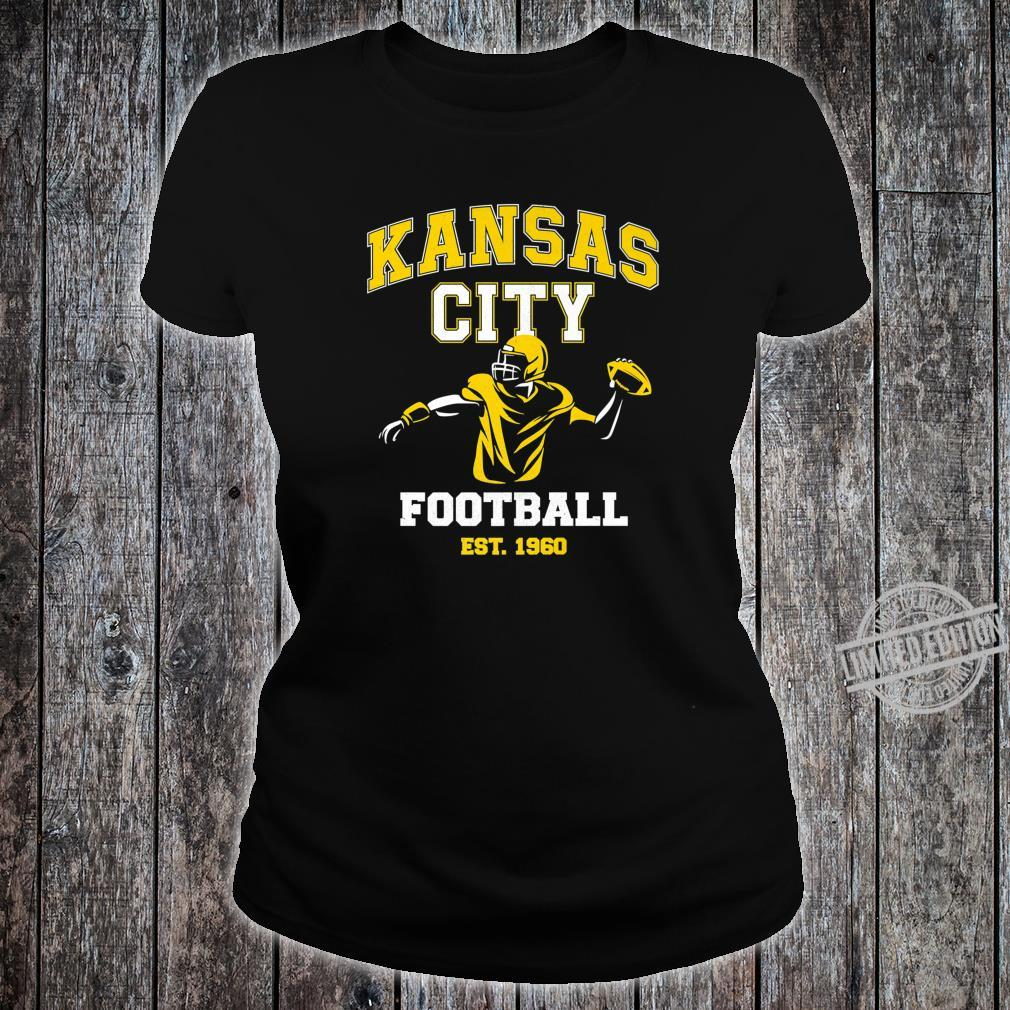 Vintage Kansas City Throwback Football Vintage Retro Shirt ladies tee