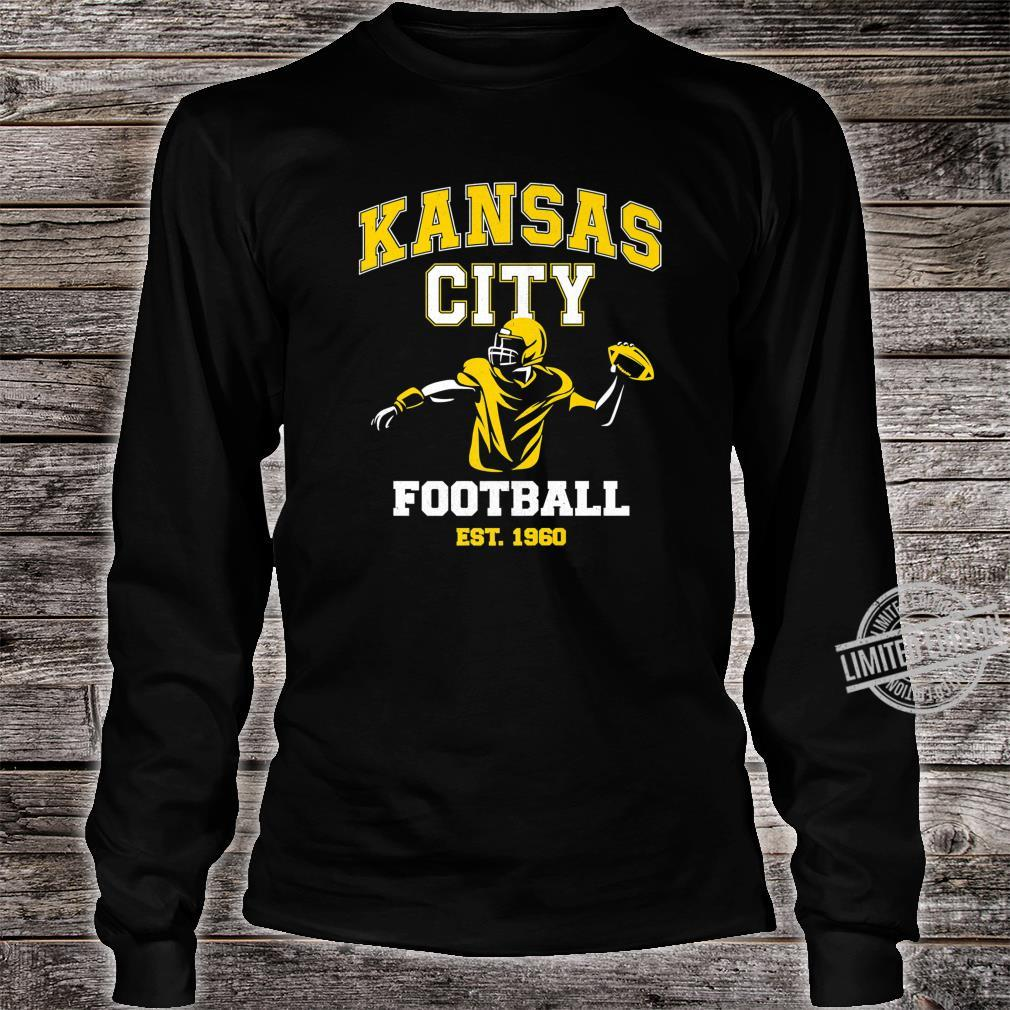 Vintage Kansas City Throwback Football Vintage Retro Shirt long sleeved