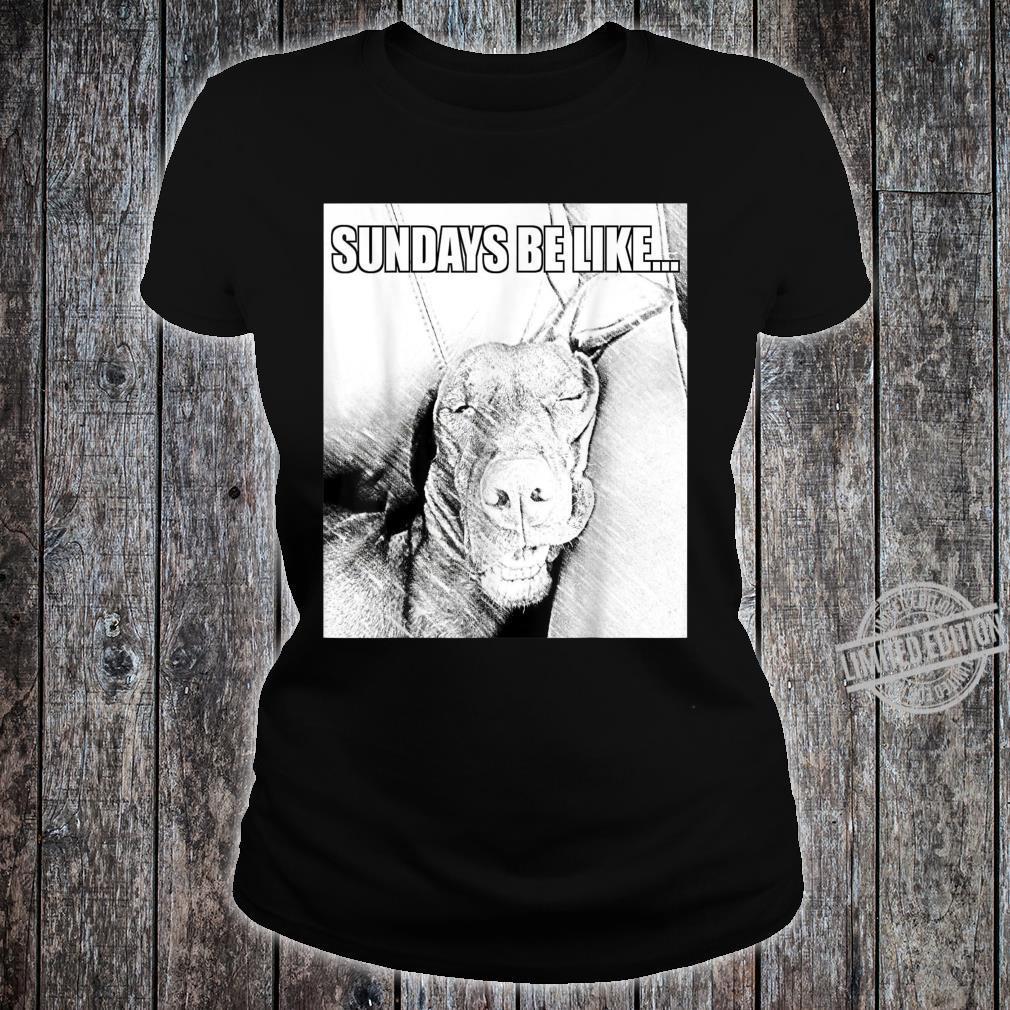 Vizsla Sundays Be Like Top Dog Shirt ladies tee