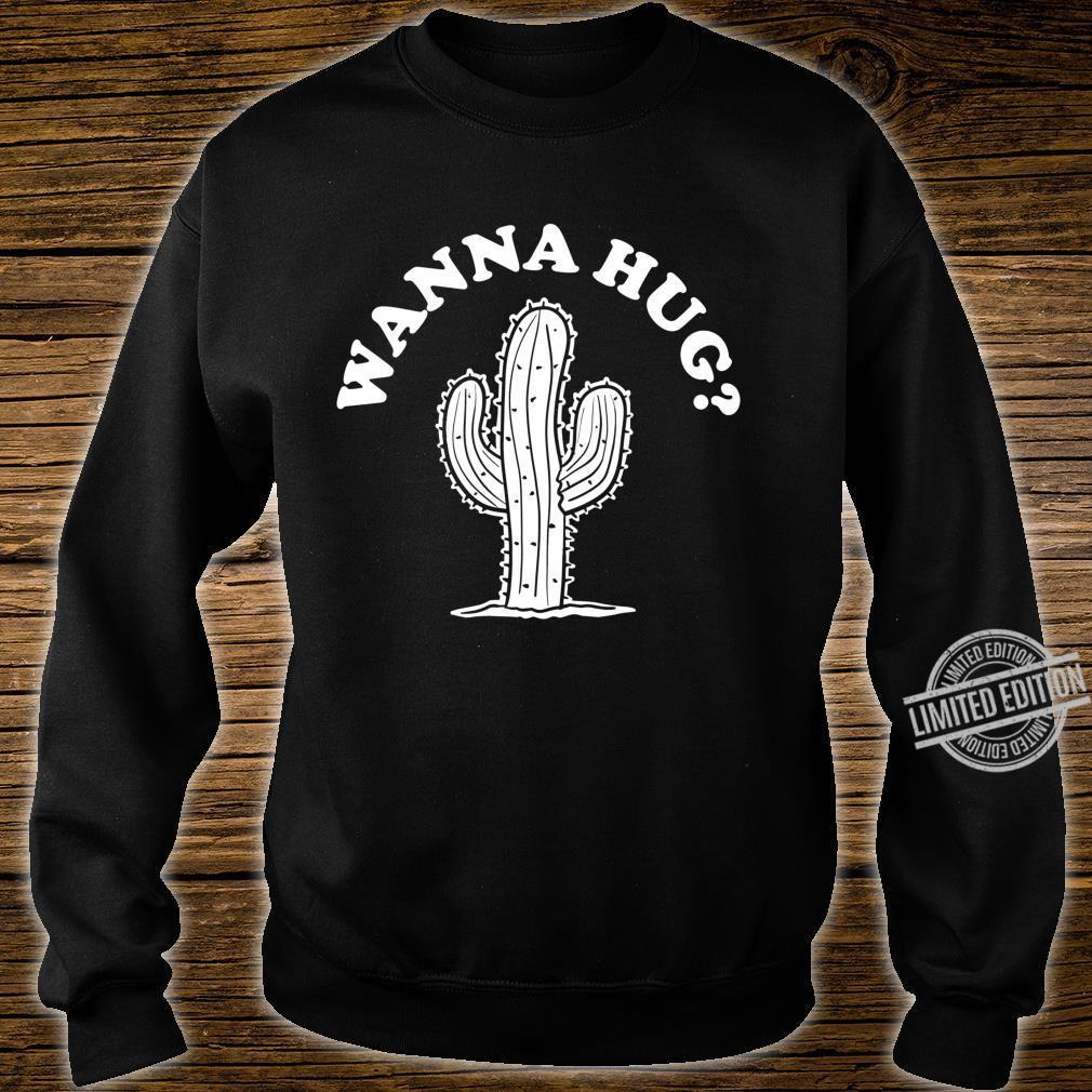 Wanna Hug Sarastic Cactus Not a Hugger Langarmshirt Shirt sweater