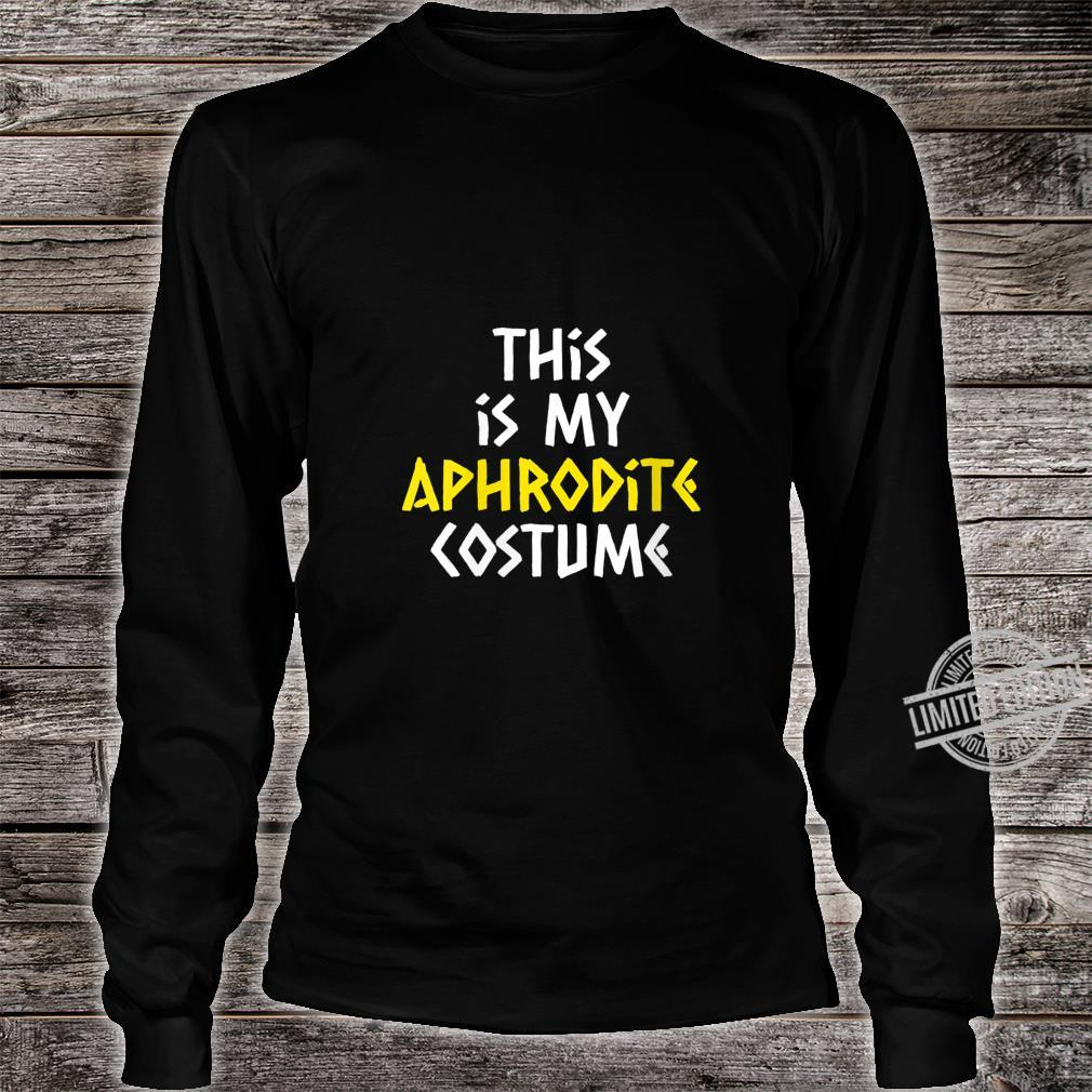 Womens Aphrodite Costume Halloween Greek Mythology Lazy Easy Shirt long sleeved