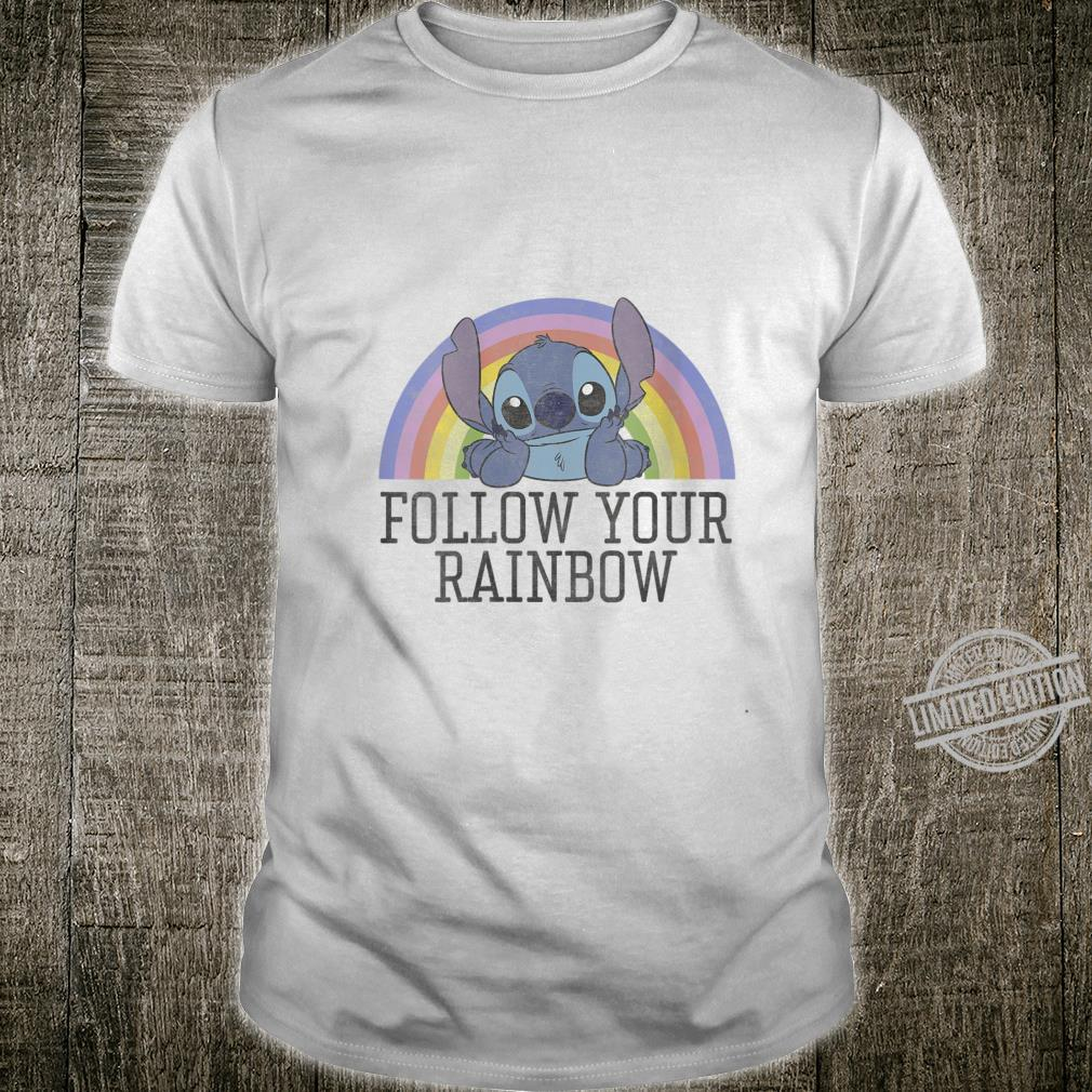 Womens Disney Lilo & Stitch Pride Follow Your Rainbow Shirt