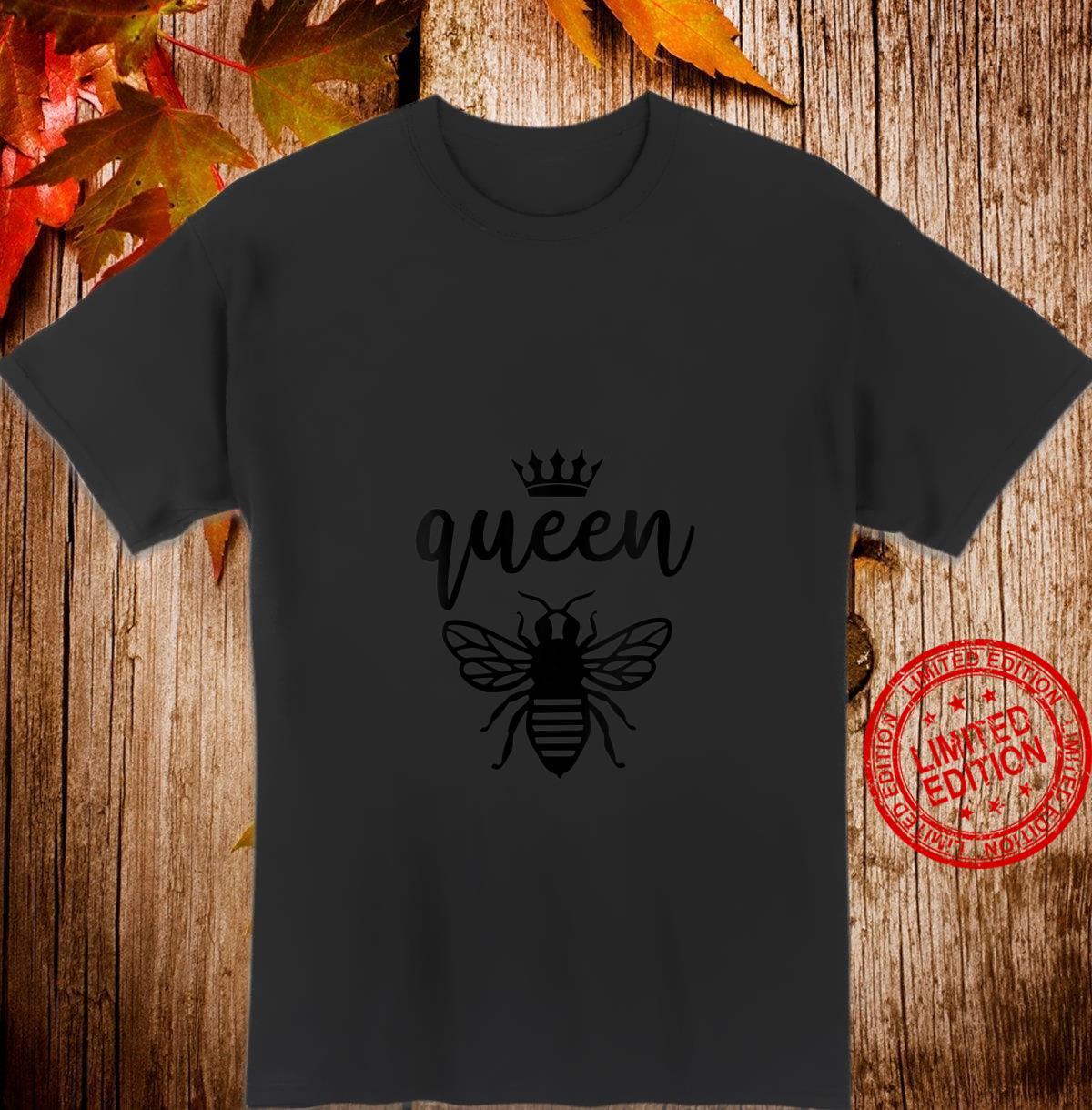 Womens Queen Bee Quote Crown Mama B Honey Cute Diva Shirt