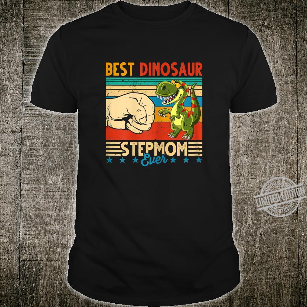 Womens Vintage Best Stepmomsaurus Rex Ever Mom Mothers Day Shirt